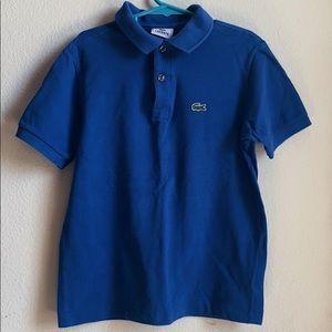 Boys Lacoste Blue Polo Short Sleeve Shirt